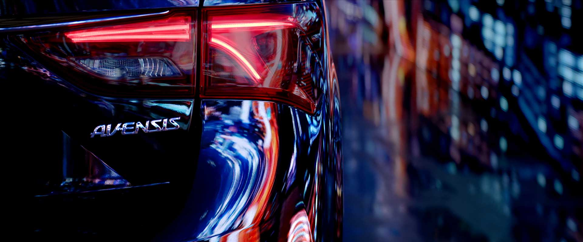 Backdetail car. Still from Toyota Avensis - Commercial