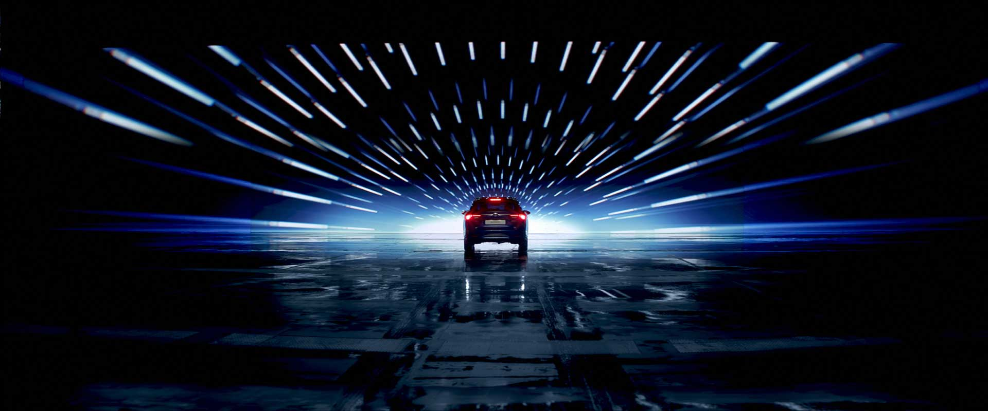Backview car. Still from Toyota Avensis - Commercial