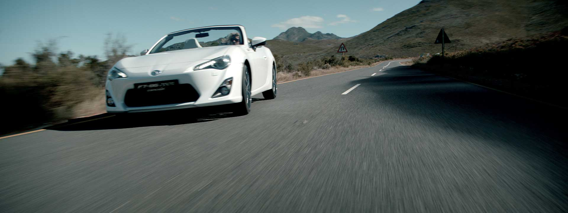 Driving car. Still from Toyota FT-86 open – Commercial