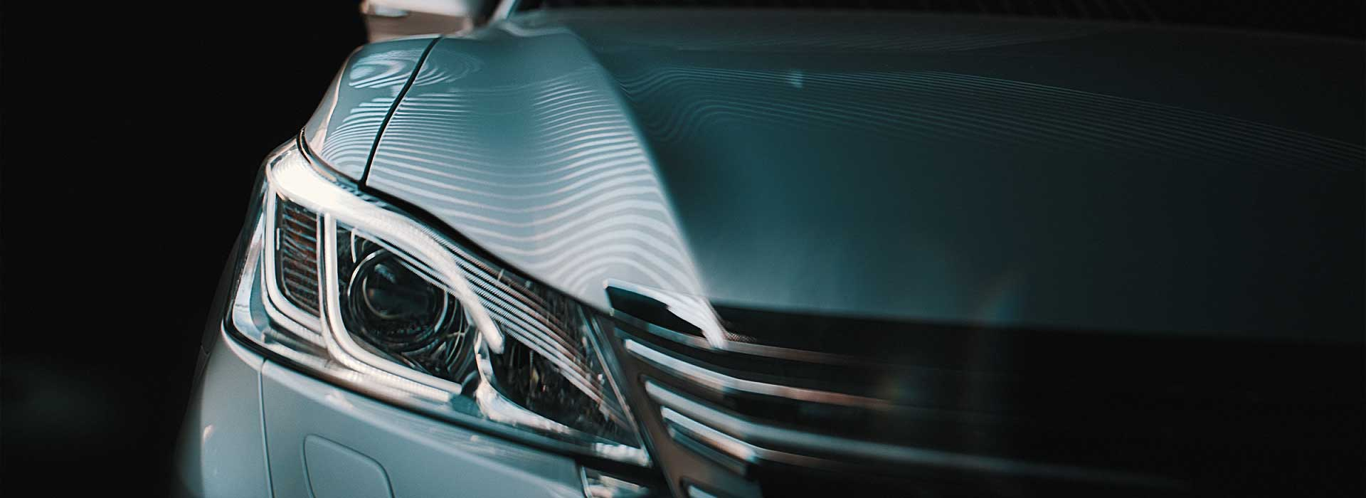 Carlights detail. Still from Toyota Crown commercial