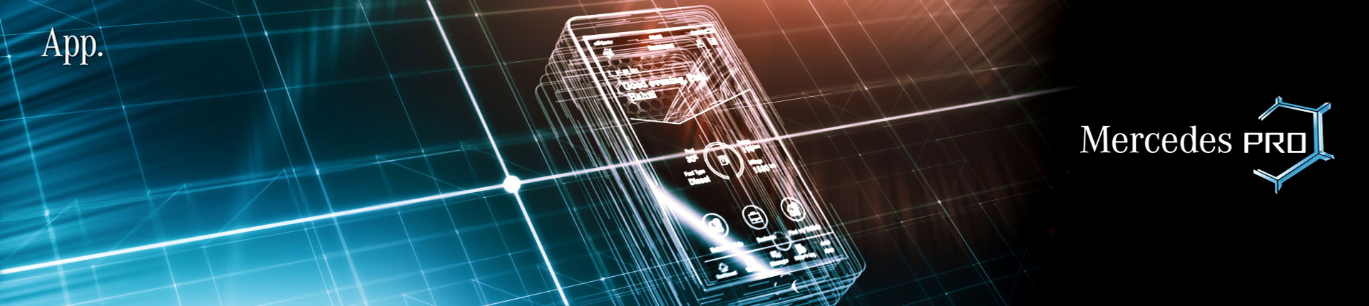 X-ray mobile phone. Still from Mercedes-Benz Trade Show.