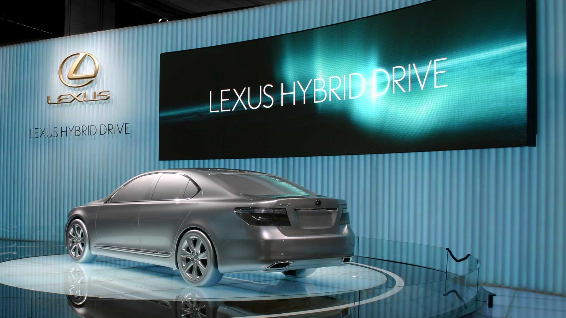 Car on stage. Still from Lexus Hybrid Drive Commercial