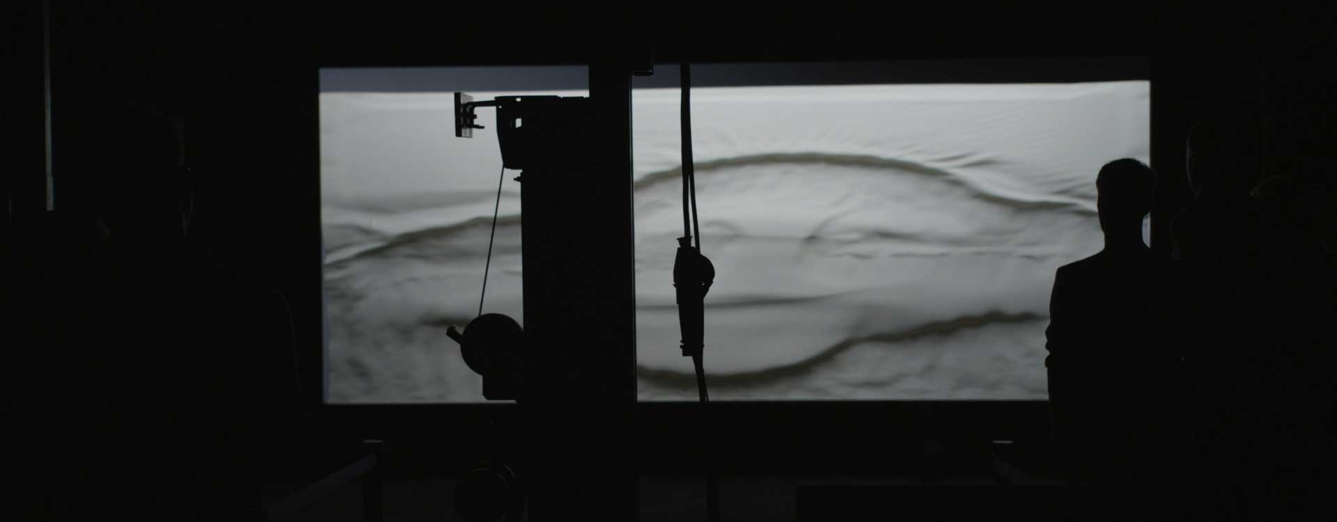 Silhouette in studio. Still from Mercedes-Benz Commercial.
