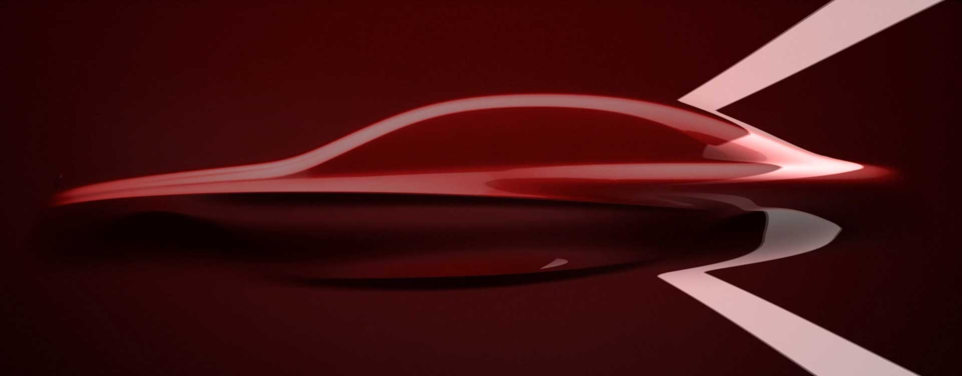 Silhouette in red. Still from Mercedes-Benz Commercial.