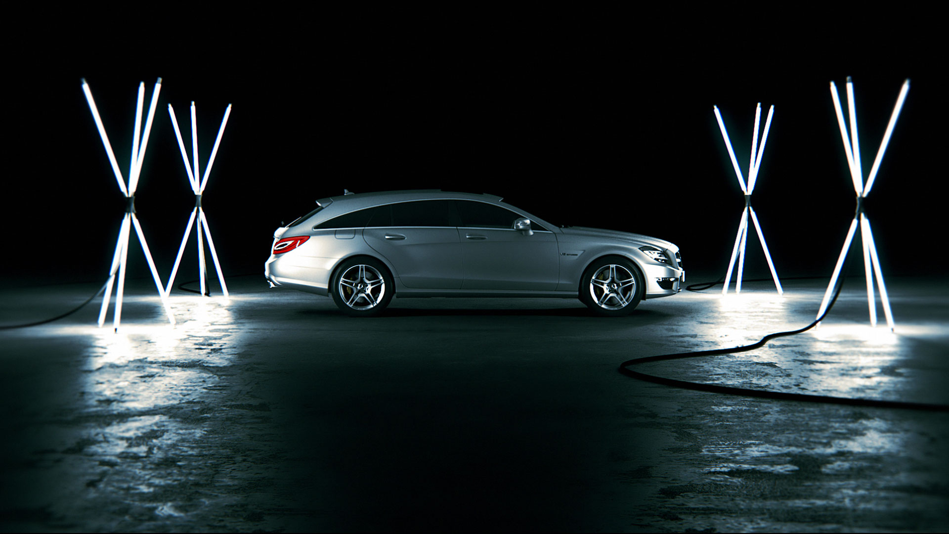 Sideview Mercedes-Benz CLS promotion movie.