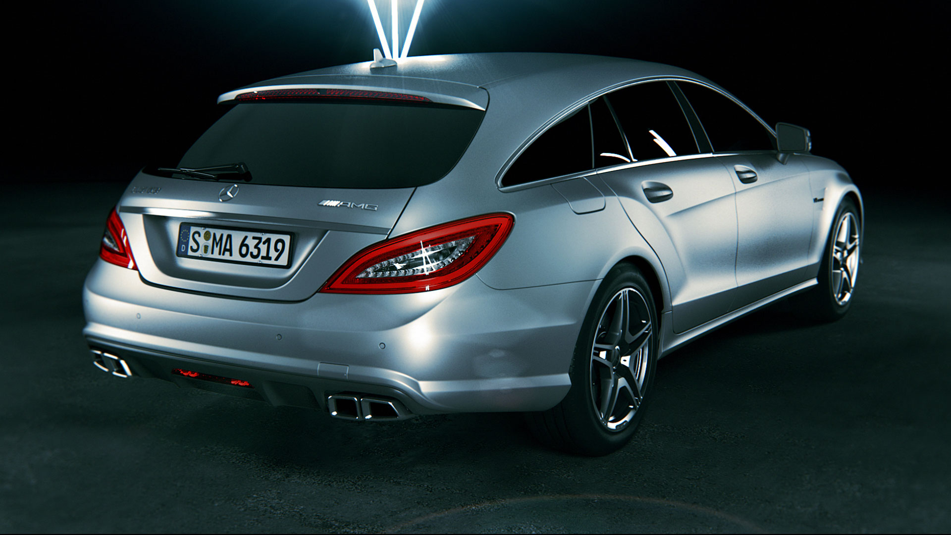 Backview Mercedes-Benz CLS promotion movie.