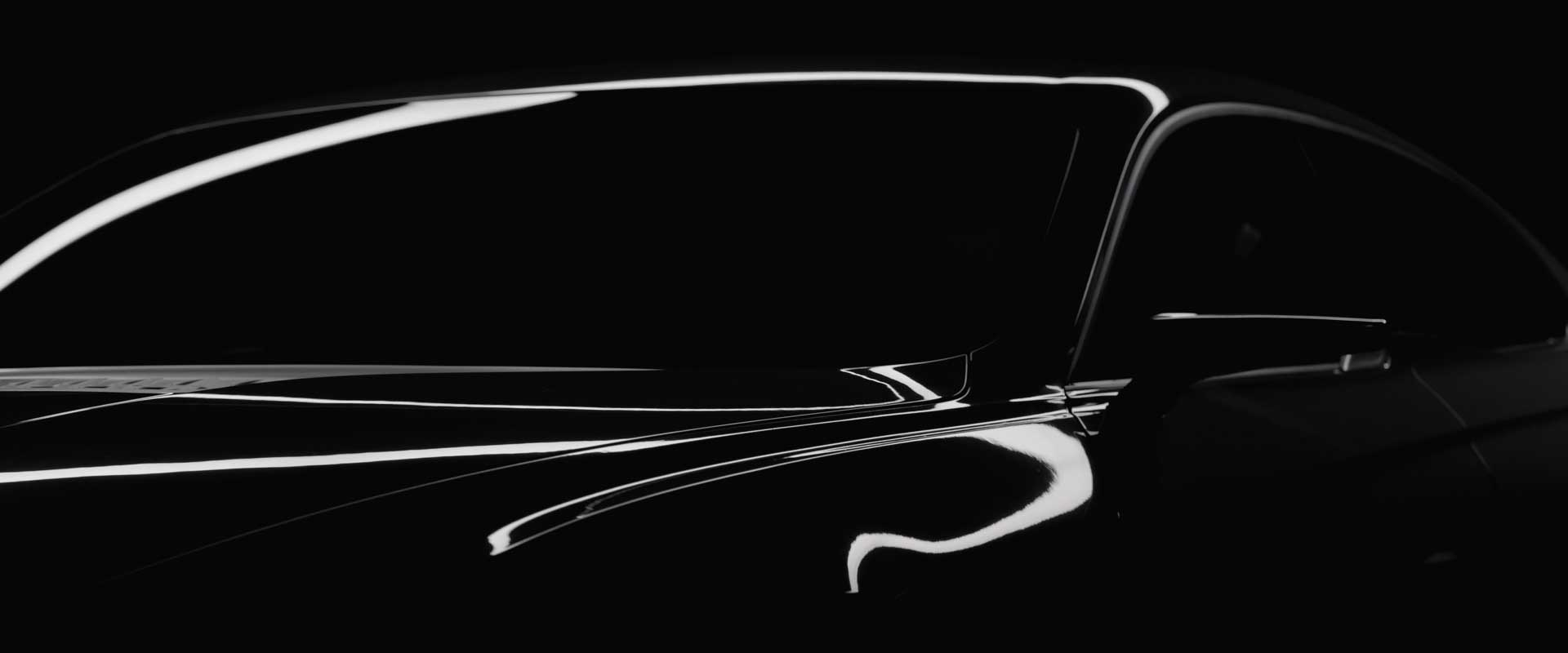 Design detail carfront. Still from Hyundai Genesis commercial.