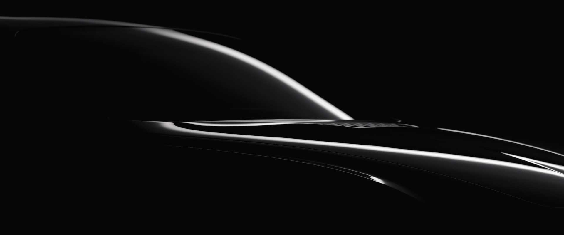 Design detail car siedview. Still from Hyundai Genesis commercial.