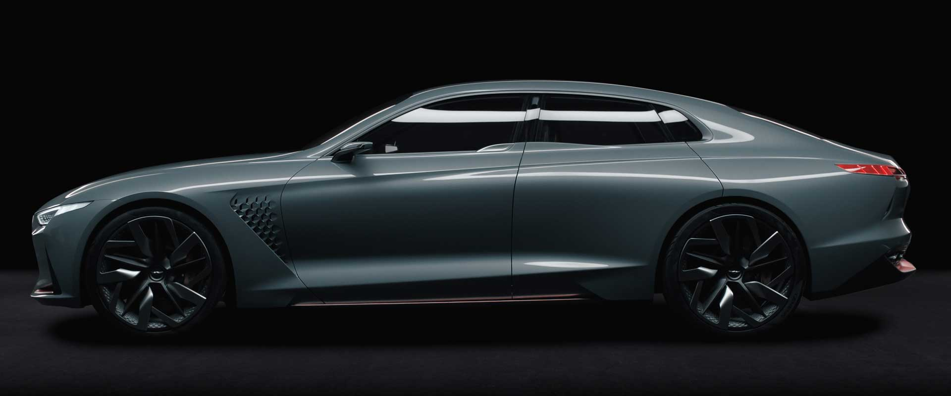 Sideview car. Still from Hyundai Genesis commercial.