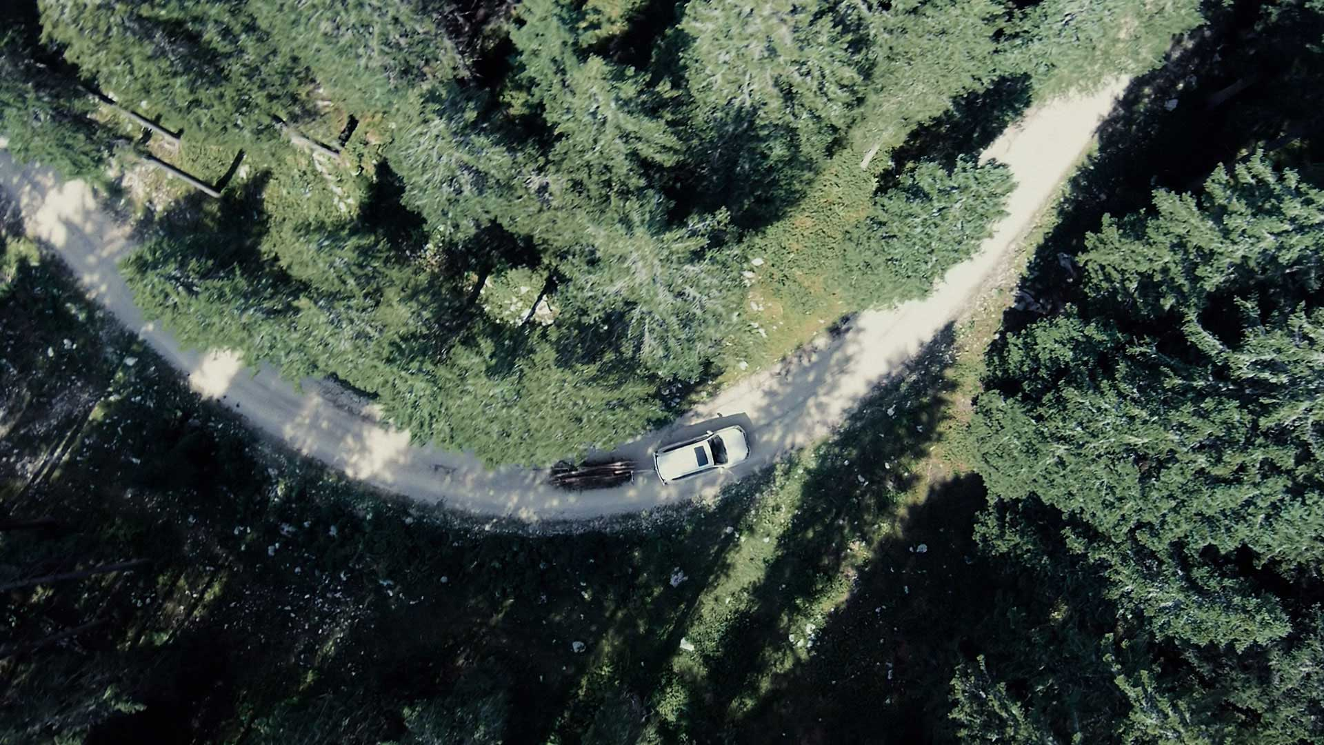 Countryroads from above. Still from Toyota Landcruiser.