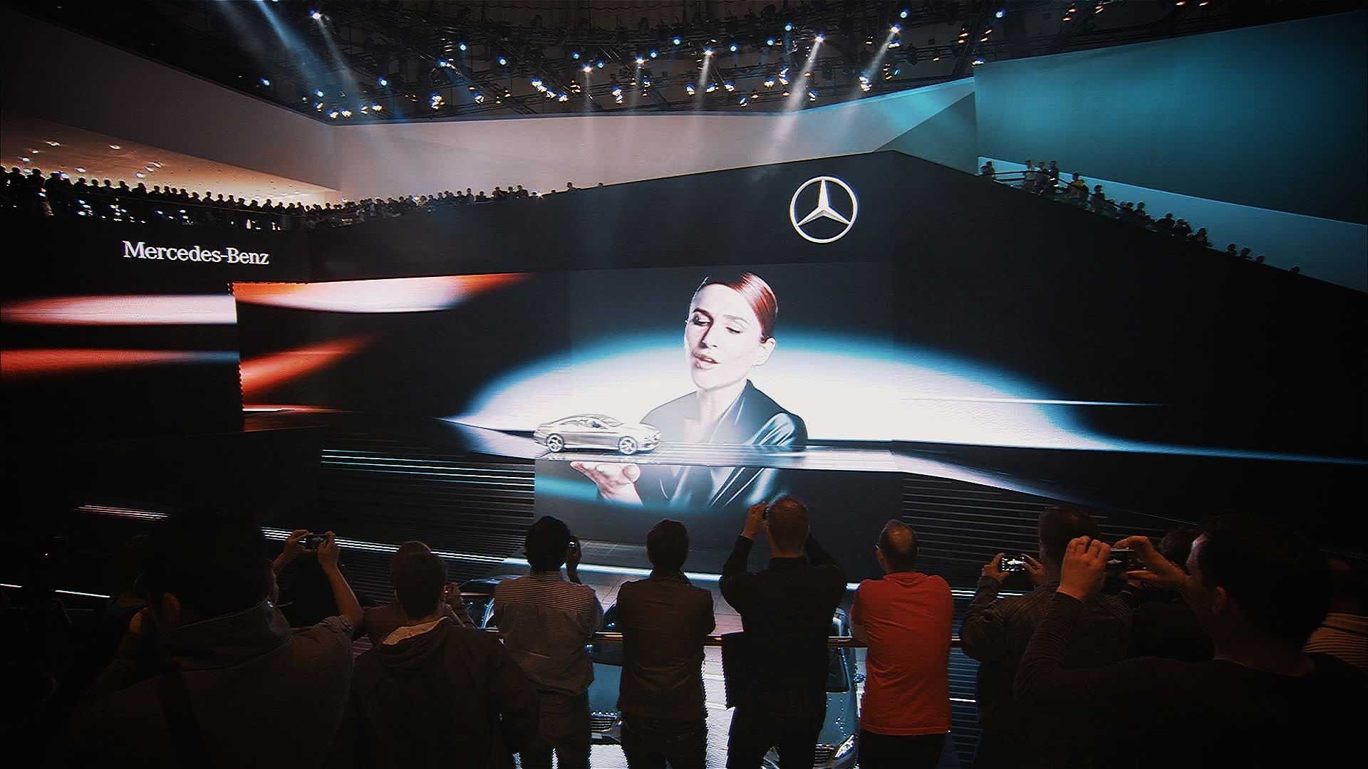 Live on stage. Mercedes-Benz IAA 2013 Trade Show