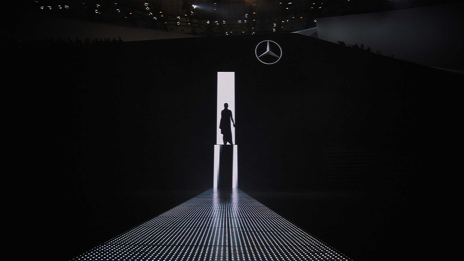 Man on stage. Mercedes-Benz IAA 2013 Trade Show